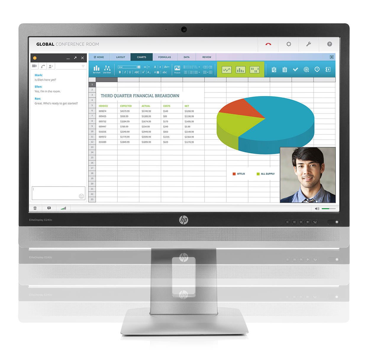 Hp elitedisplay e240c 238 ips fhd led monitor