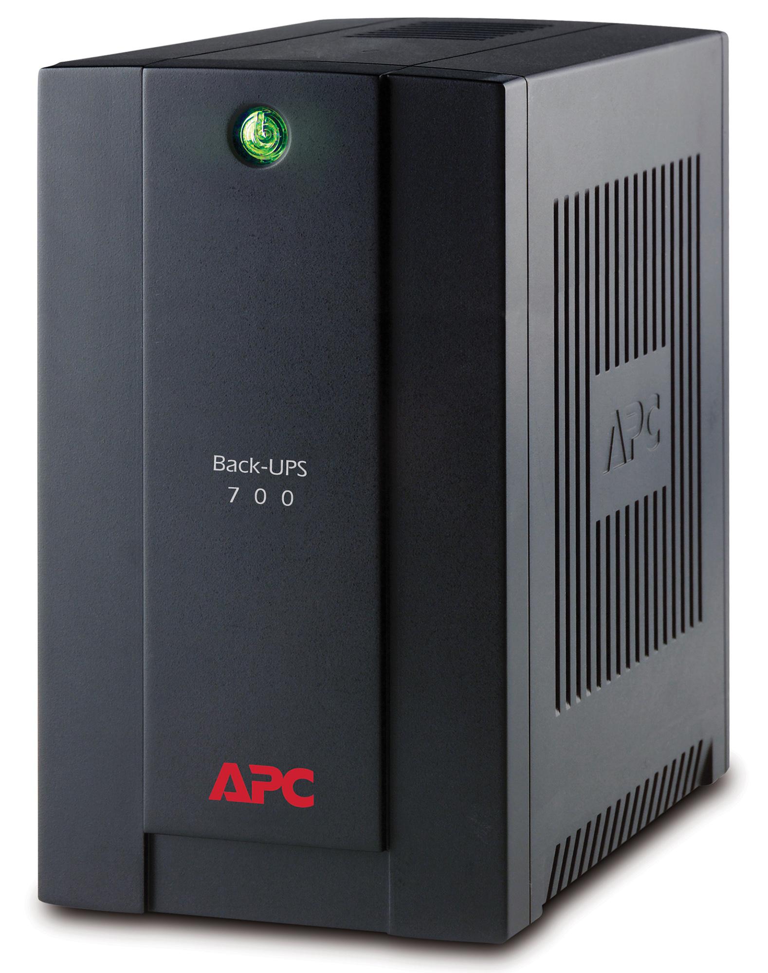 APC Back-UPS uninterruptible power supply (UPS) Line-Interactive 700 VA 390 W 4 AC outlet(s)