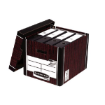 Bankers Box Fellowes Premium Presto Tall Box Woodgrain PK10