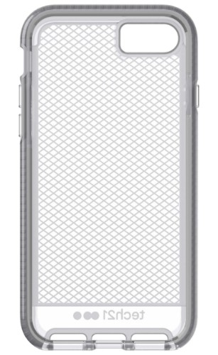 "Tech21 Evo Check mobile phone case 11.9 cm (4.7"") Cover Grey,Translucent"