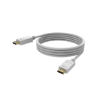 Vision TC 2MDPHDMI4K video cable adapter 1 m DisplayPort HDMI 2.0 White