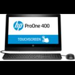 """HP ProOne 400 G3 50.8 cm (20"""") 1600 x 900 pixels 7th gen Intel® Core™ i5 4 GB DDR4-SDRAM 500 GB HDD Windows 10 Pro All-in-One PC Black"""