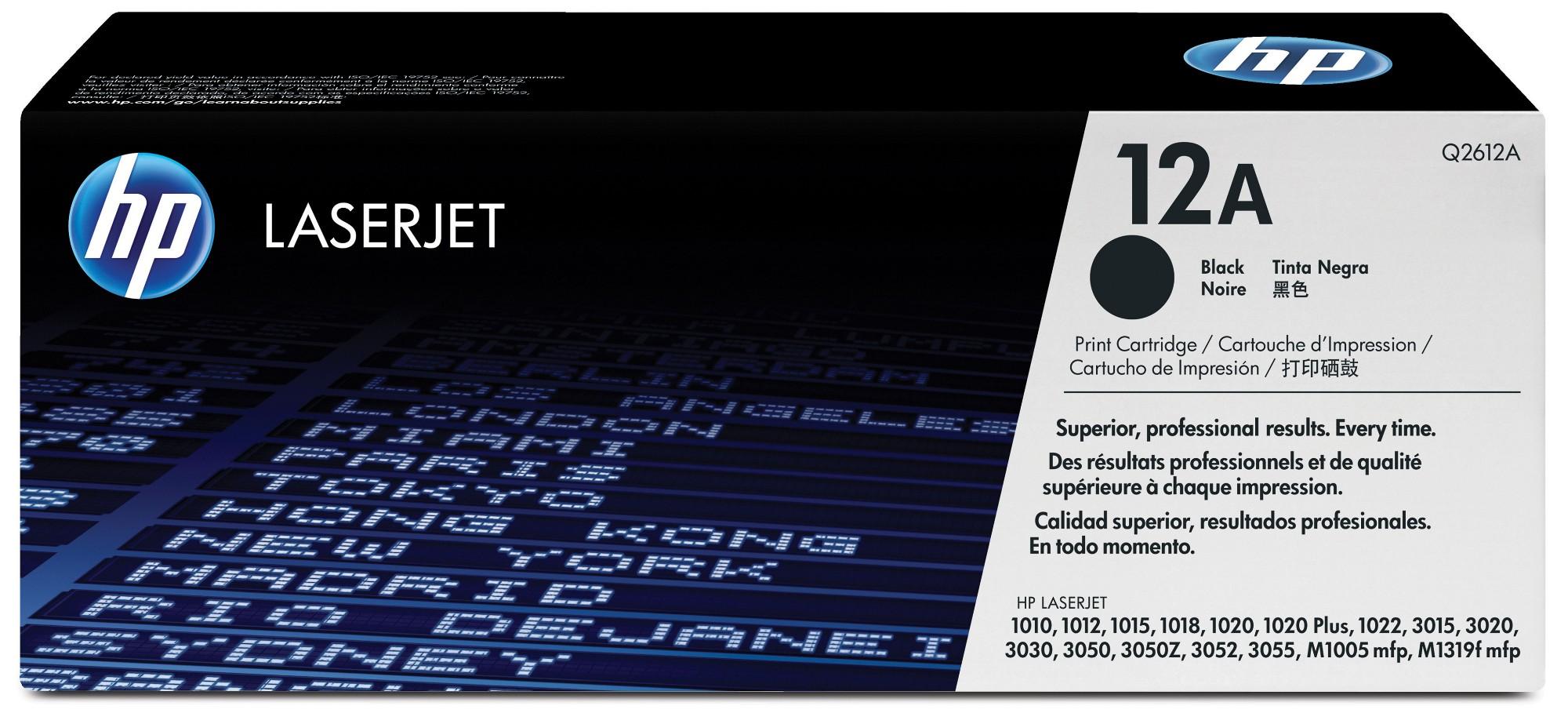 HP 12A Origineel Zwart 1 stuk(s)