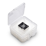 Integral INMSDQUADBOX memory card case 4 cards Transparent