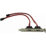 8WARE eSATA Bracket Dual Port with Cable Supports SATA I & II