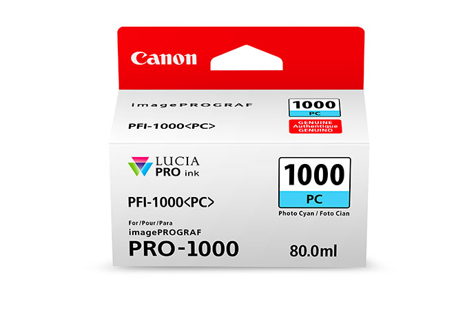 Canon PFI-1000 PC cartucho de tinta Original Fotos cian