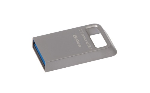 Kingston Technology DataTraveler Micro 3.1 64GB USB flash drive USB Type-A 3.2 Gen 1 (3.1 Gen 1) Metallic