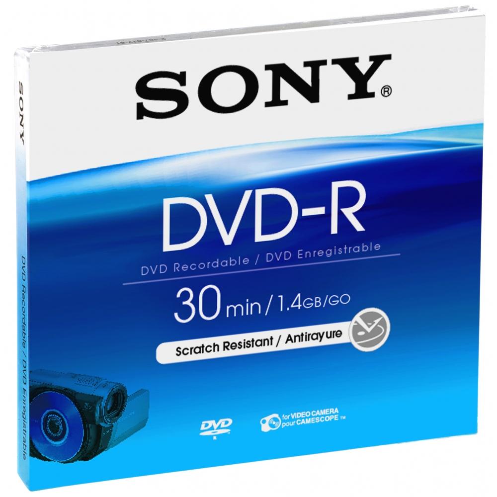 Sony DMR30A DVD Recordable Media - DVD-R - 1.40 GB - 1 Pack - 80mm Min