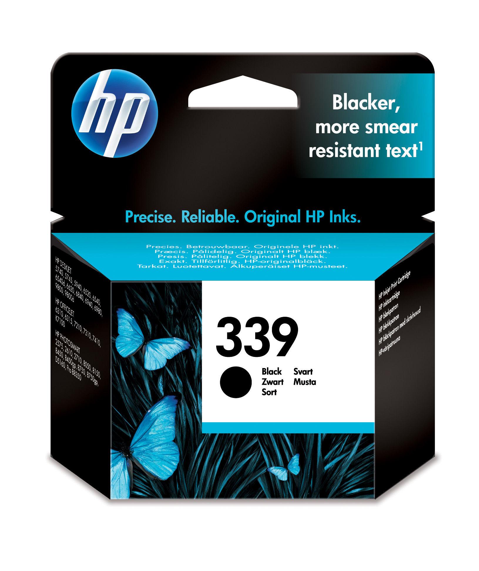 HP 339 Origineel Zwart 1 stuk(s)
