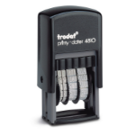 Trodat Printy 4810 Budget Mini Dater Stamp Self-Inking Black