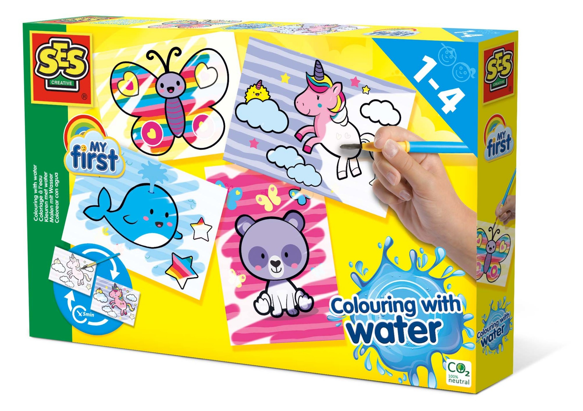 SES Creative My First Colouring with water - Fantasy animals