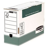 Bankers Box Fellowes Bankers Transfer File Foolscap White Green Ref 1179201 [Pack 10]