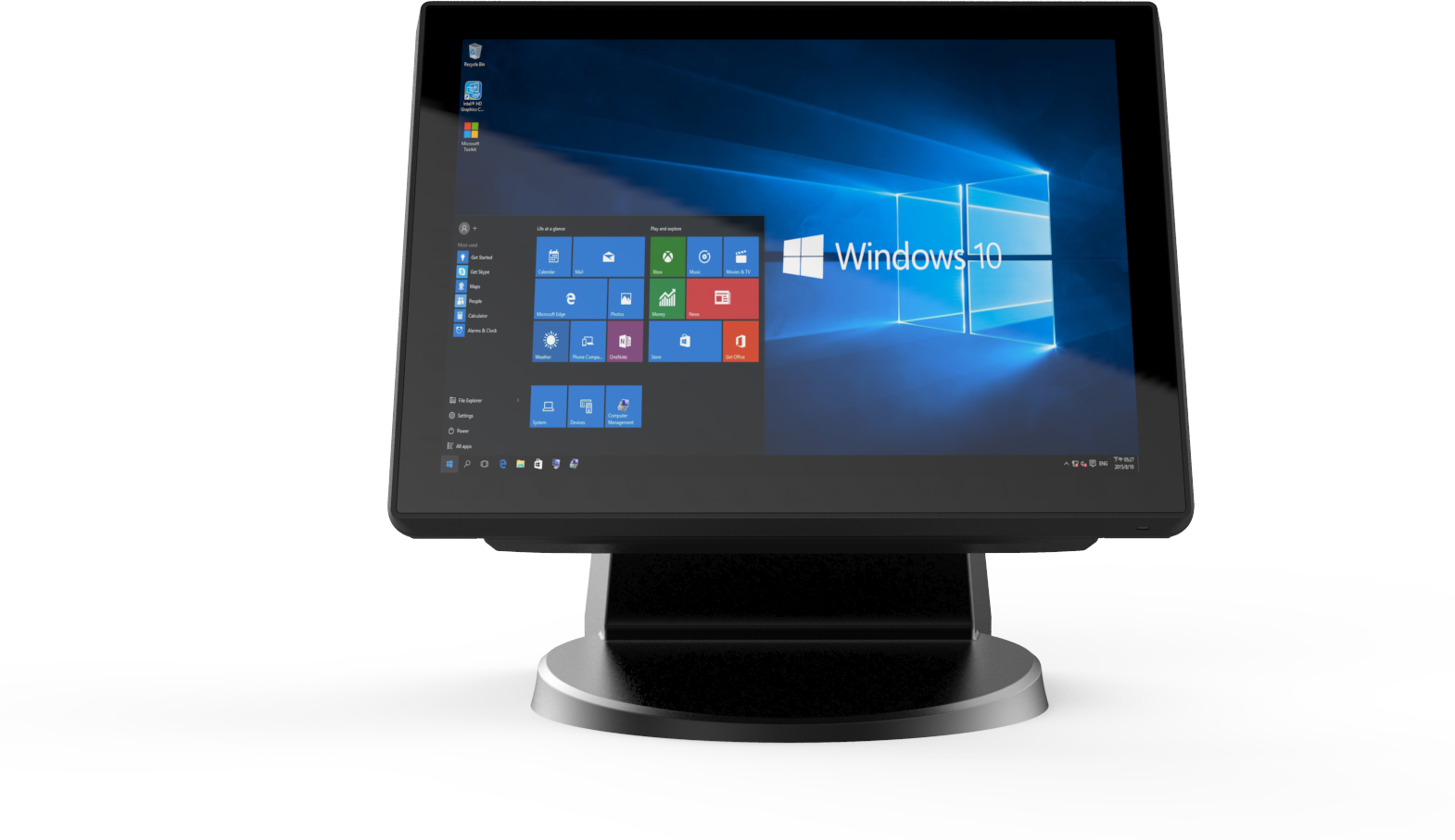 "EBN XPOS755S, 15""1, i3, Excl. OS SSD 64, 4GB Ram, Black Capactive multi touch, CPU i3 6100TE (2.7 GH"