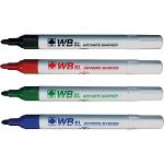 Hainenko Value Drywipe Marker Bullet Tip Assorted PK10