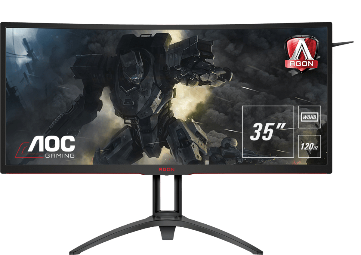 "AOC Gaming AG352UCG6 computer monitor 88.9 cm (35"") 3440 x 1440 pixels UltraWide Quad HD LED Black,Red"