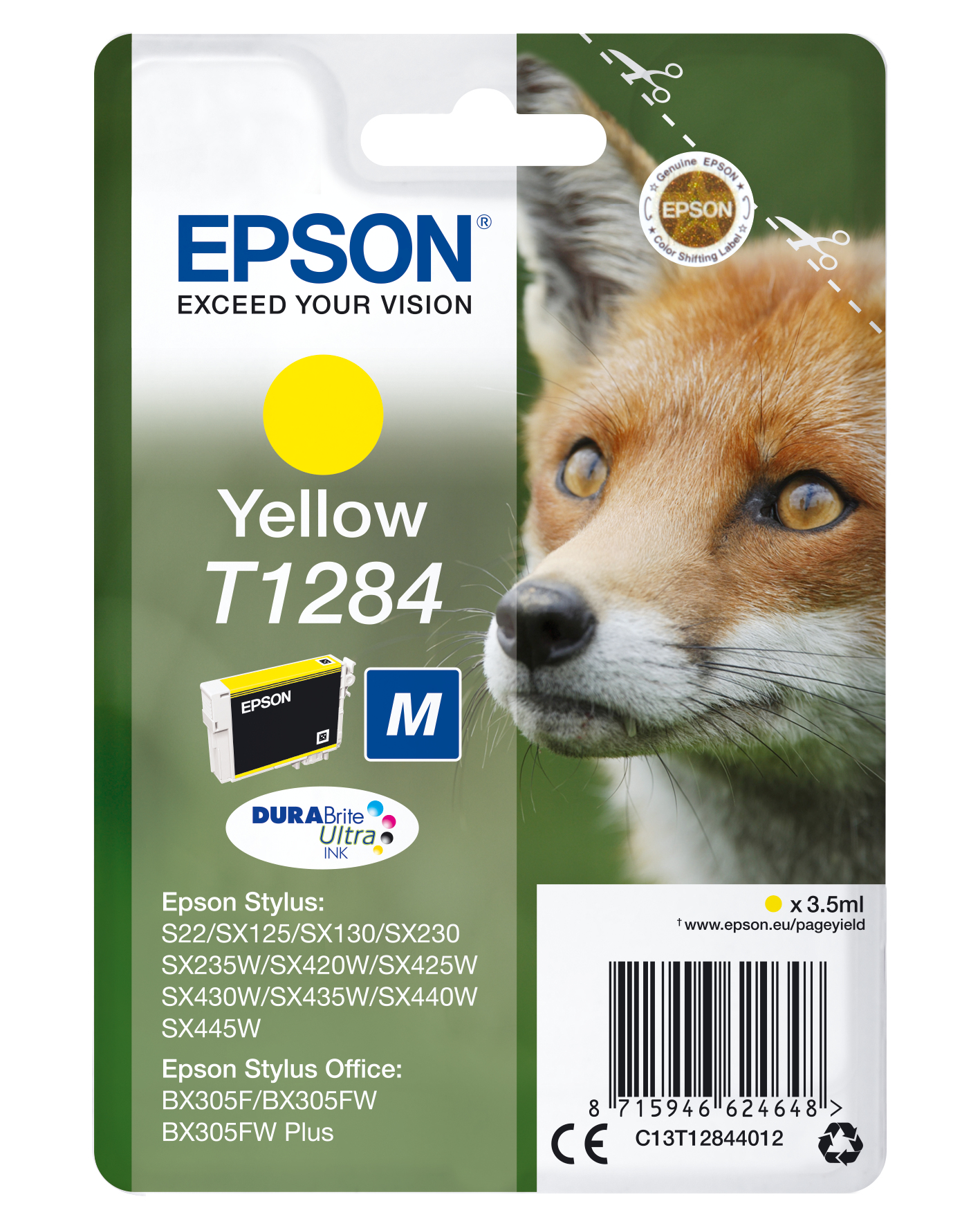 Epson Fox Cartucho T1284 amarillo