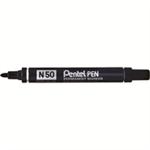 Pentel N 60 Chisel tip Black 12pc(s) permanent marker