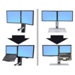 Ergotron WorkFit Convert-to-LCD & Laptop Kit from Dual Displays 20""