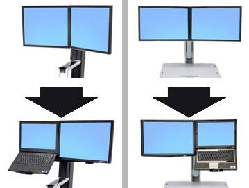 Ergotron WorkFit Convert-to-LCD & Laptop Kit from Dual Displays