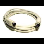 """Monoprice 2538 PS/2 cable 300"""" (7.62 m) 6-p Mini-DIN Beige"""