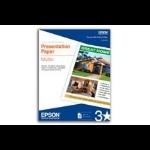 "Epson Presentation Paper Matte - 8.5"" x 14"" - 100 sheets inkjet paper"