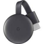 Google Chromecast 3 Smart TV dongle Full HD Android HDMI Black