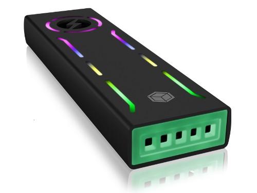 ICY BOX IB-G1826MF-C31 storage drive enclosure SSD enclosure Black M.2