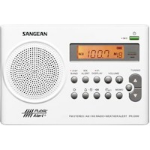 Sangean PR-D9W Clock Digital White Clock/Portable Radio