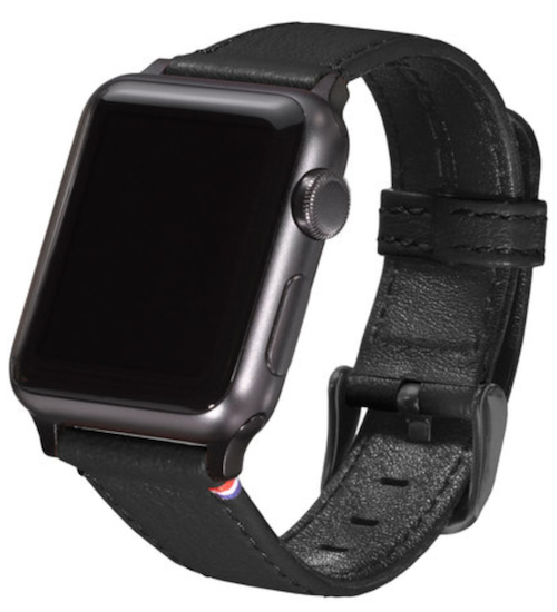 Strap Lthr Apple Watch 38mm Black