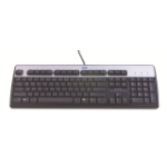 HP 701429-DE1 USB Arabic Black, Silver keyboard