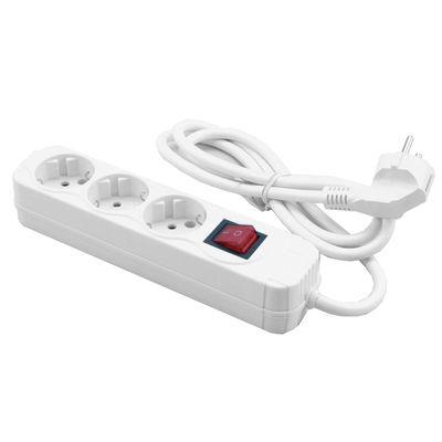 MediaRange MRCS205 power extension 1.4 m 3 AC outlet(s) White