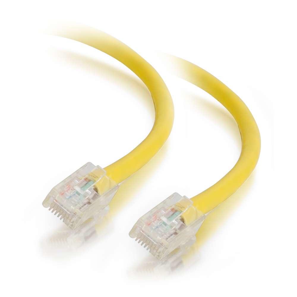 C2G Cable de conexión de red de 1m Cat5e sin blindaje y sin funda (UTP), color amarillo
