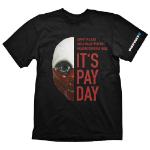 PAYDAY 2 Men's Wolf Mask Large T-Shirt, Black (GE1730L)