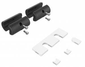 Vision TC2 2HOLE Wall Cable holder Black,White 3pc(s) cable organizer