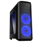 GameMax Volcano Gaming PC Case Blue LED Front Fans