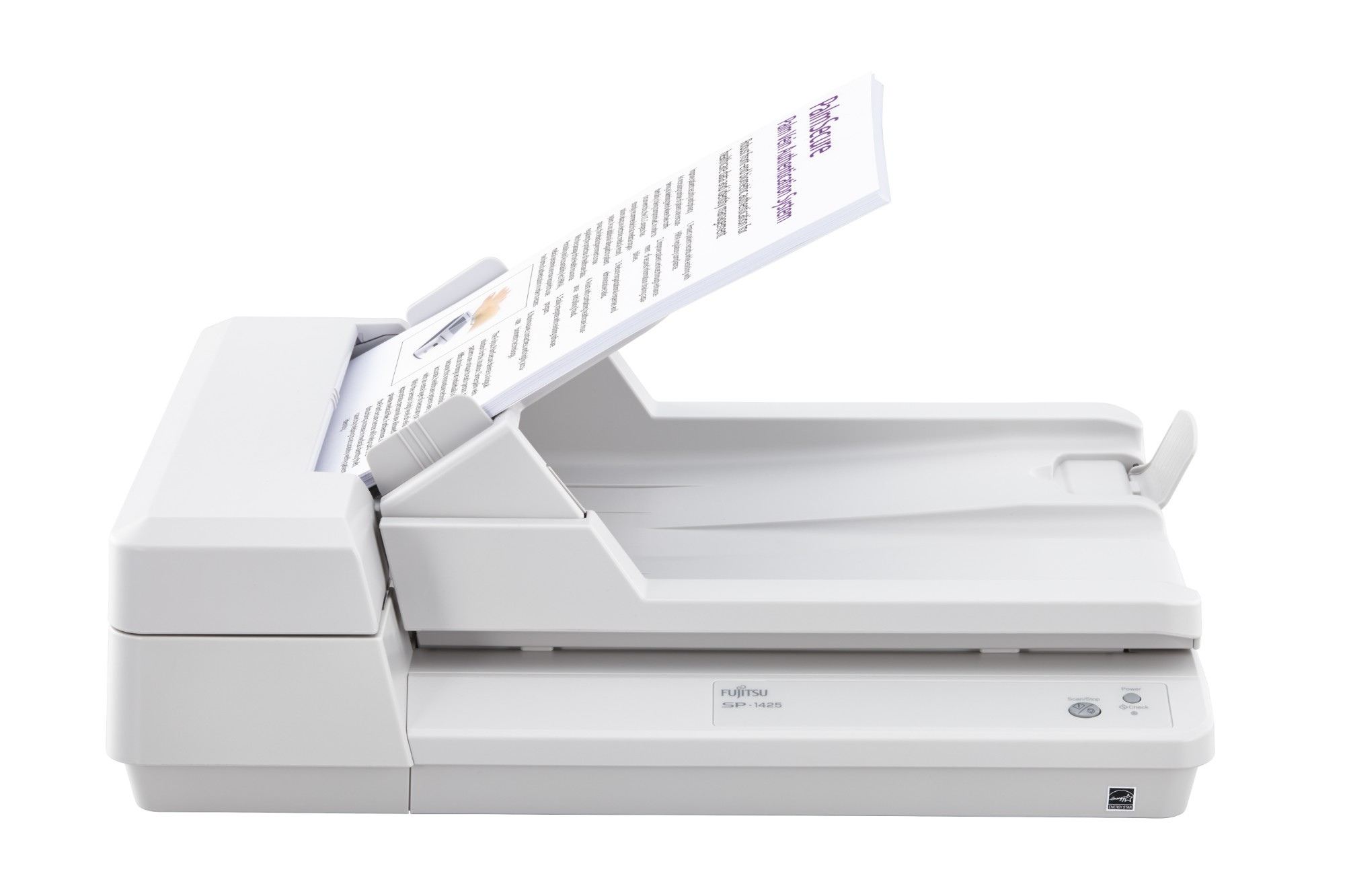 Fujitsu SP-1425 Document Scanner 25ppm / 50ipm duplex A4 desktop document scanner with ADF and Flatb
