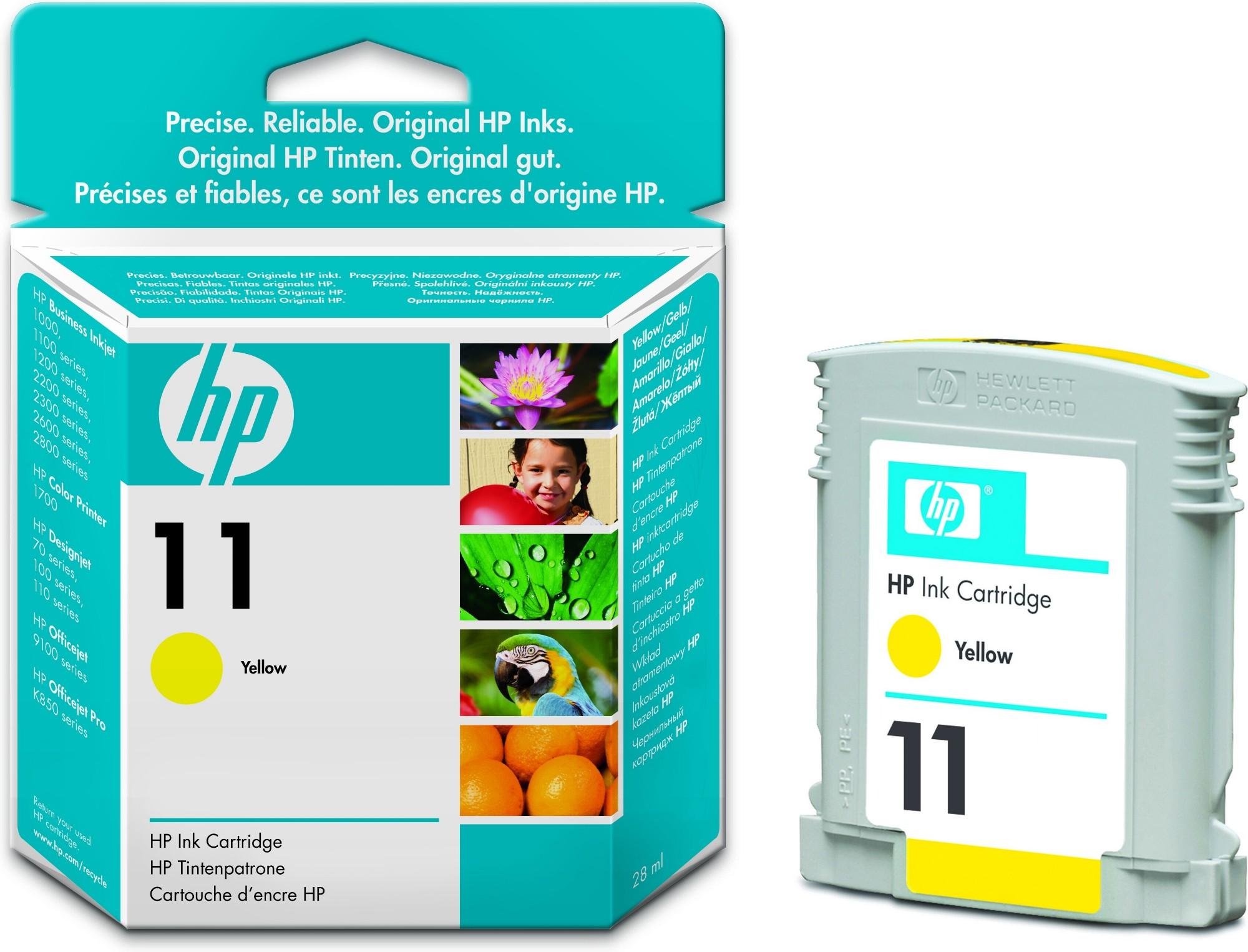 HP 11 Original Amarillo 1 pieza(s) Rendimiento estándar