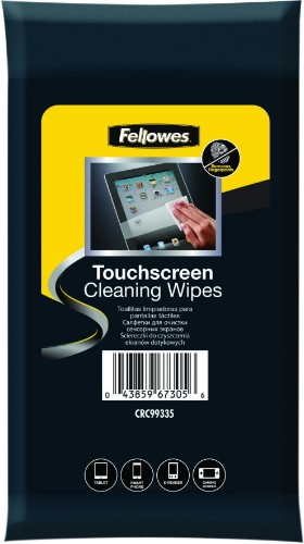 Fellowes Touchscreen Cleaning Wipes - 20 Pack