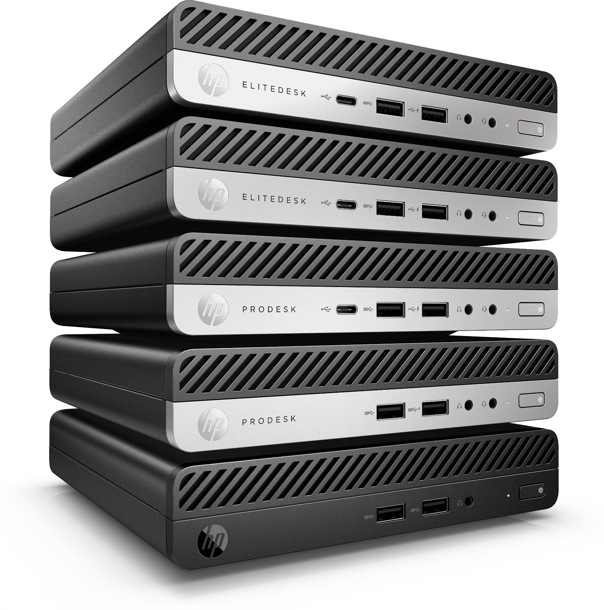 HP 260 G3 Intel® Pentium® 4415U 4 GB DDR4-SDRAM 500 GB Unidad de disco duro mini PC Negro Windows 10 Pro