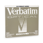 "Verbatim 650MB Write-Once MO Disk (1x) 650MB 5.25"" magneto optical disk"