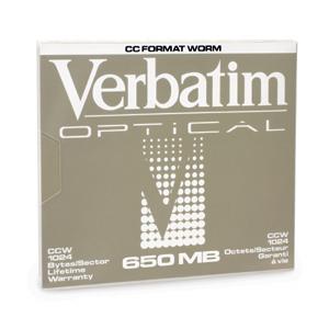 "Verbatim 650MB Write-Once MO Disk (1x) magneto optical disk 13.3 cm (5.25"")"
