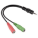 Hama 0.1v 3.5mm jack M/F audio cable 0.1 m Black