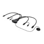 """Belkin F1DN202FLP-DP-3 KVM cable Black 70.9"""" (1.8 m)"""