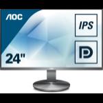 """AOC Gaming I2490VXQ/BT computer monitor 60.5 cm (23.8"""") 1920 x 1080 pixels Full HD LED Grey"""