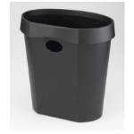 Avery DR500BLK trash can 18 L Round Plastic Black