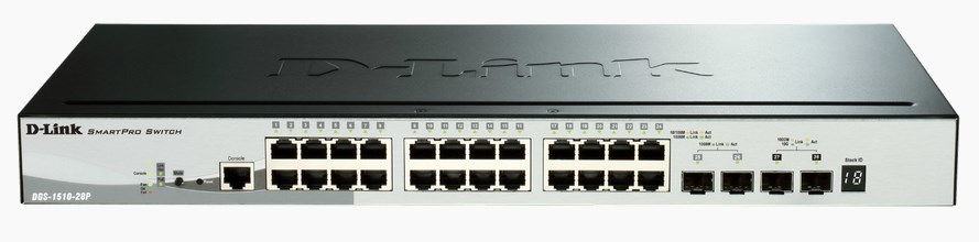 D-Link DGS-1510-28P network switch
