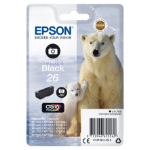 Epson C13T26114012 (26) Ink cartridge bright black, 200 pages, 5ml