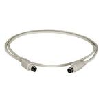 "Black Box 6-Pin Mini DIN Cable (CL2), Male/Male, 50-ft. KVM cable 598.4"" (15.2 m) Gray"