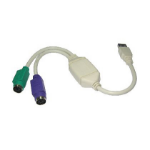 Cables Direct CDLSB-902 PS/2 cable USB A 2 x PS/2 White