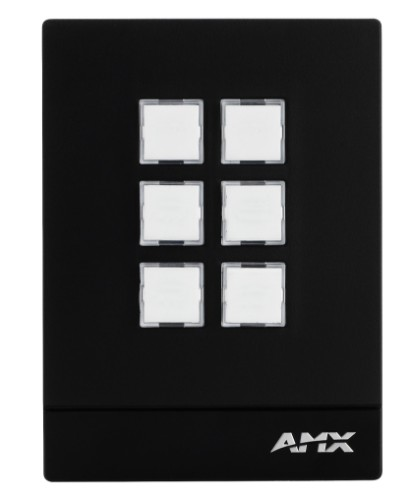 AMX MCP-106 Black push-button panel